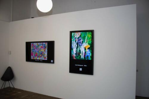 My Artwork on the wall in the gallery in Switzerland