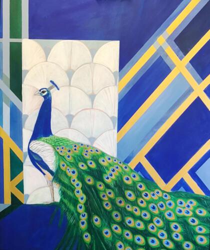 Peaceful Joy Acrylic on canvas,100cm x 80cm