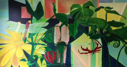 InterminglingAcrylic on canvas, 80cm x 150cm