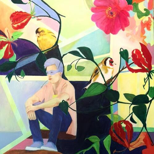 Awaiting fateAcrylic on canvas, 80cm x 80cm
