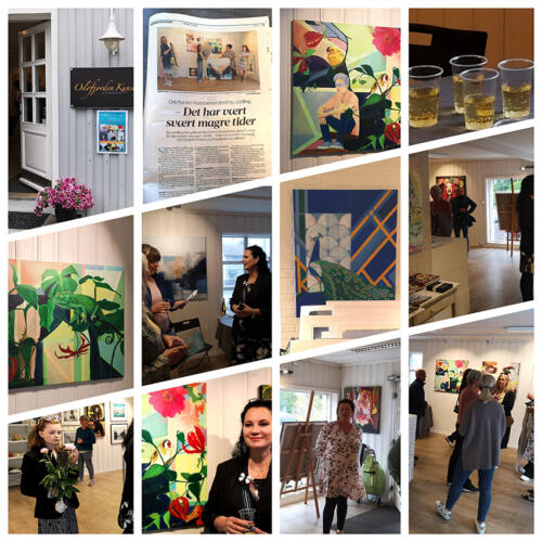 Art exhibition in Drøbak Norway